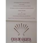 Casa Galicia en Madrid invitación