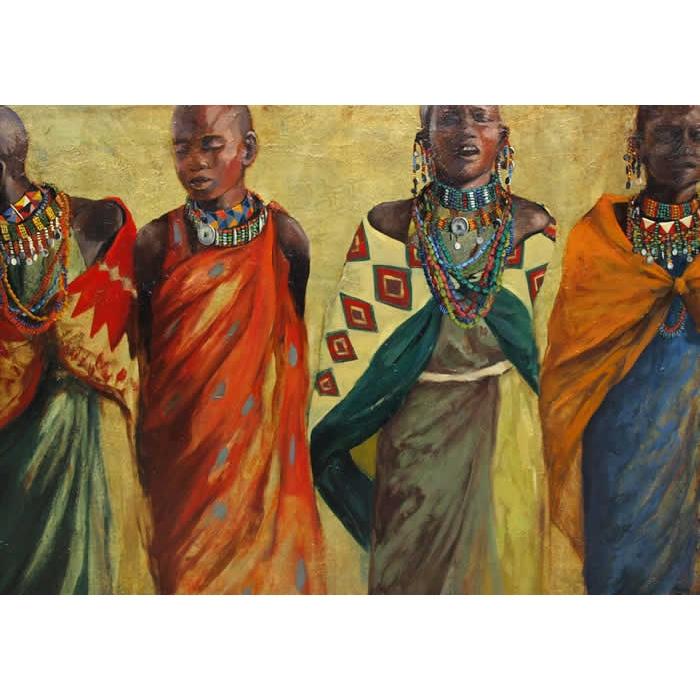 Cuatro mujeres massai