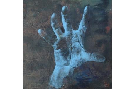 """manos y piés """"Mano azul homenaje"""""""