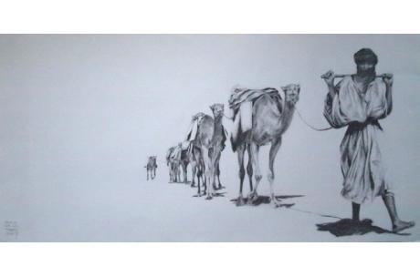 El pastor con sus camellos