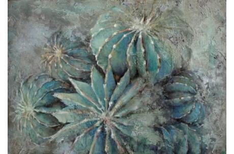 naturaleza cactus ferocactus histrix óleo