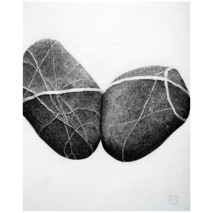 Dibujo en piedra dibujos animados agrietado coraz 243 n - Dibujos de piedras ...