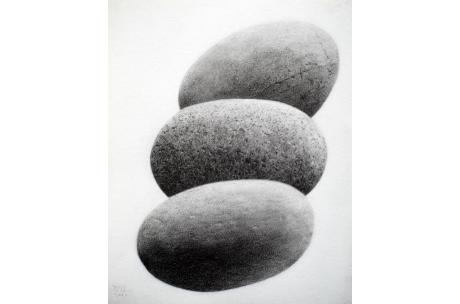 naturaleza piedras trio de rio