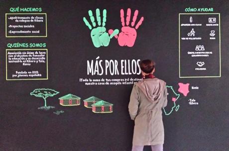 Mural para ONG Más por Ellos