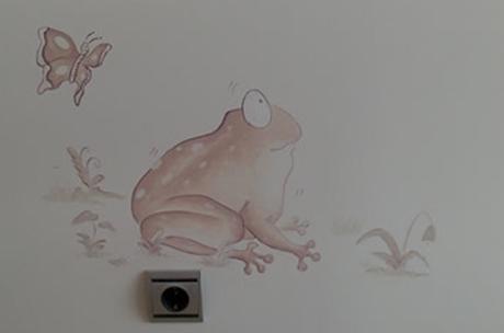 Mural infantil rana