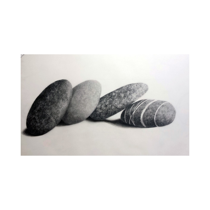 caja luz piedra sobre piedra