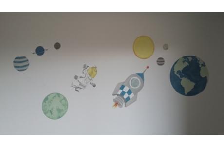 mural astronauta Lego