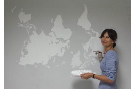 mural oficina Auara y Mas por Ellos