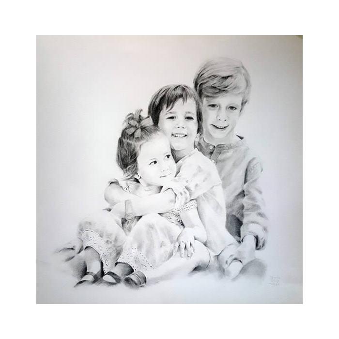 retrato tres nietos