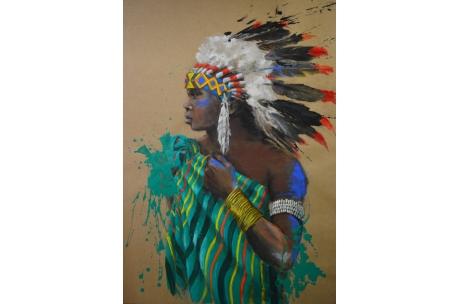 Indio americano africano